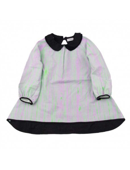 FRANKY GROW Wood Dress - purple&neon green