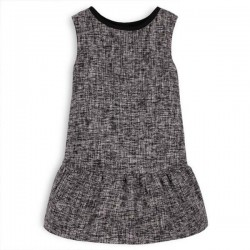 TROIZENFANTS - Sleeveless Black Tweed Dress