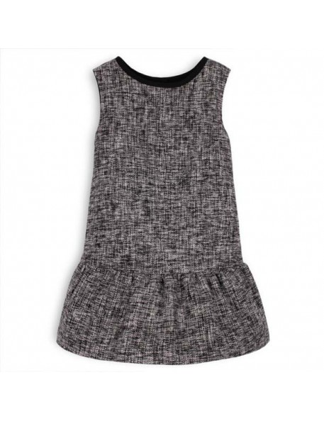 TROIZENFANTS Sleeveless Black Tweed Dress