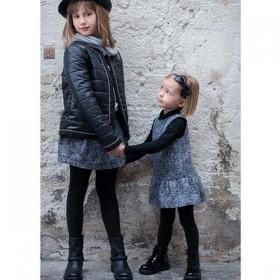 TROIZENFANTS Robe Chasuble en Tweed