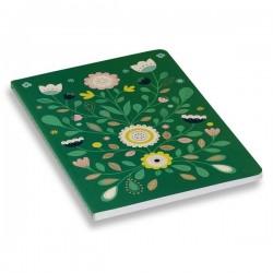 MINILABO - Green Folk Print Notebook by Atomic Soda
