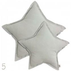 Numero 74 - Coussin étoile gris silver, medium