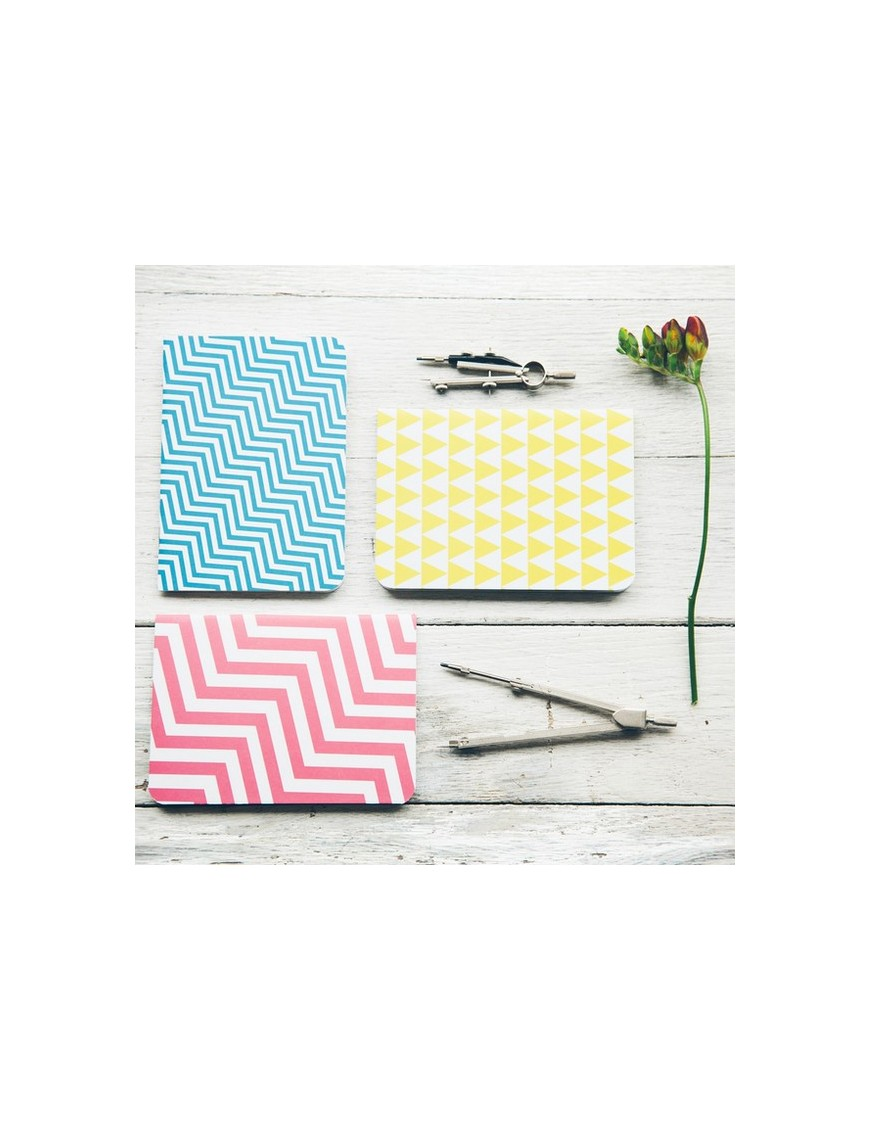 Mulk - Set of 3 Geometric A6 Notebooks