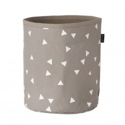 FERM LIVING | panier gris & triangles blancs (small)