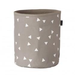 FERM LIVING | petit panier gris à triangles blancs