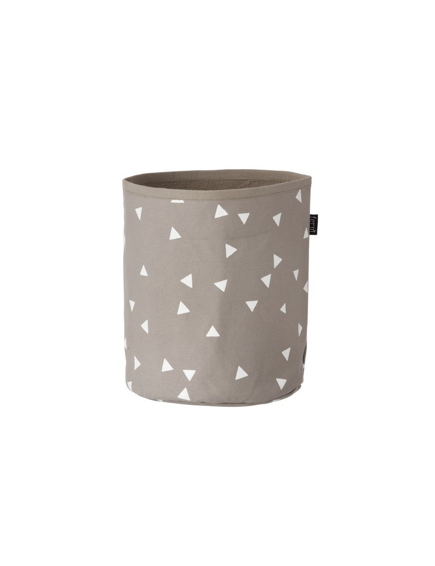 ferm living petit panier gris à triangles blancs