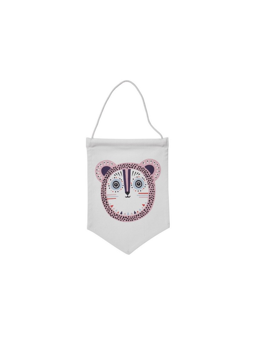 Ferm Living - Billy Bear Wall Flag - Rose