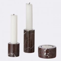 ferm living candleholder red marble