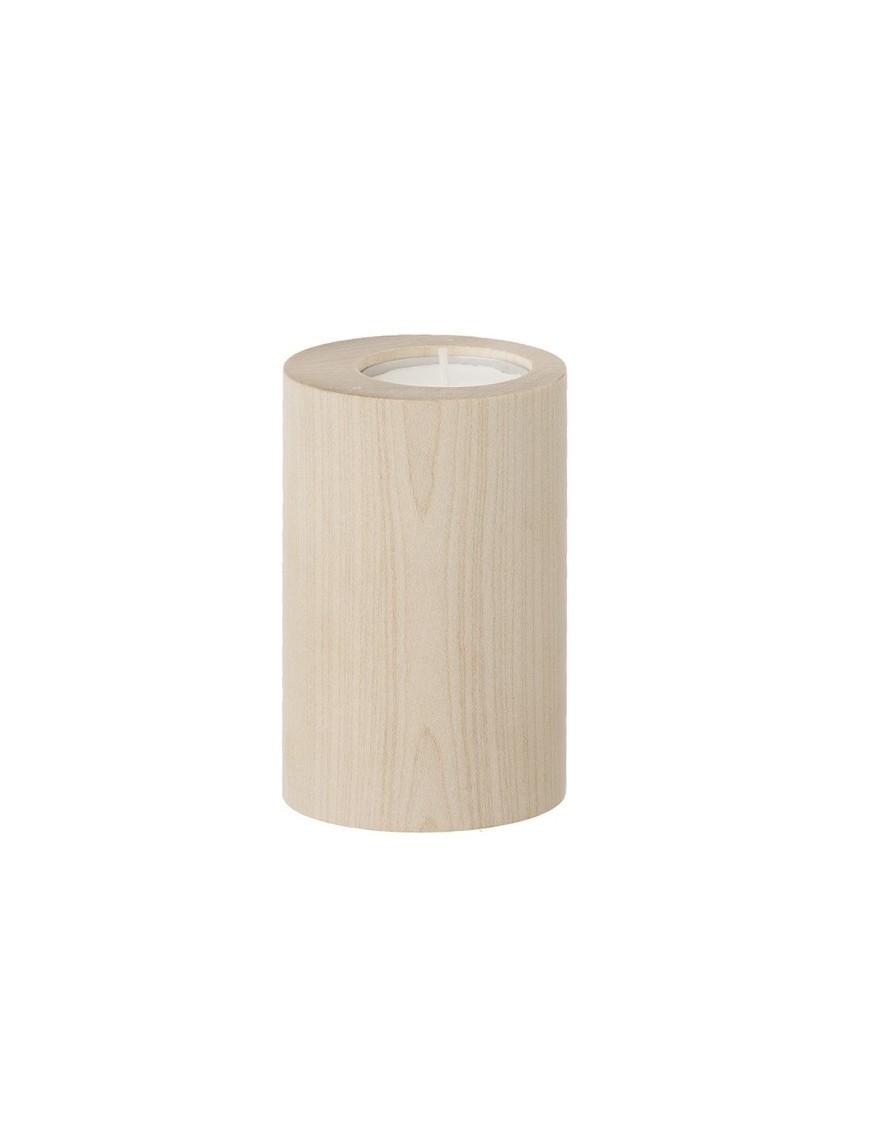 Ferm Living - Bougeoir Cylindre en bois d'érable