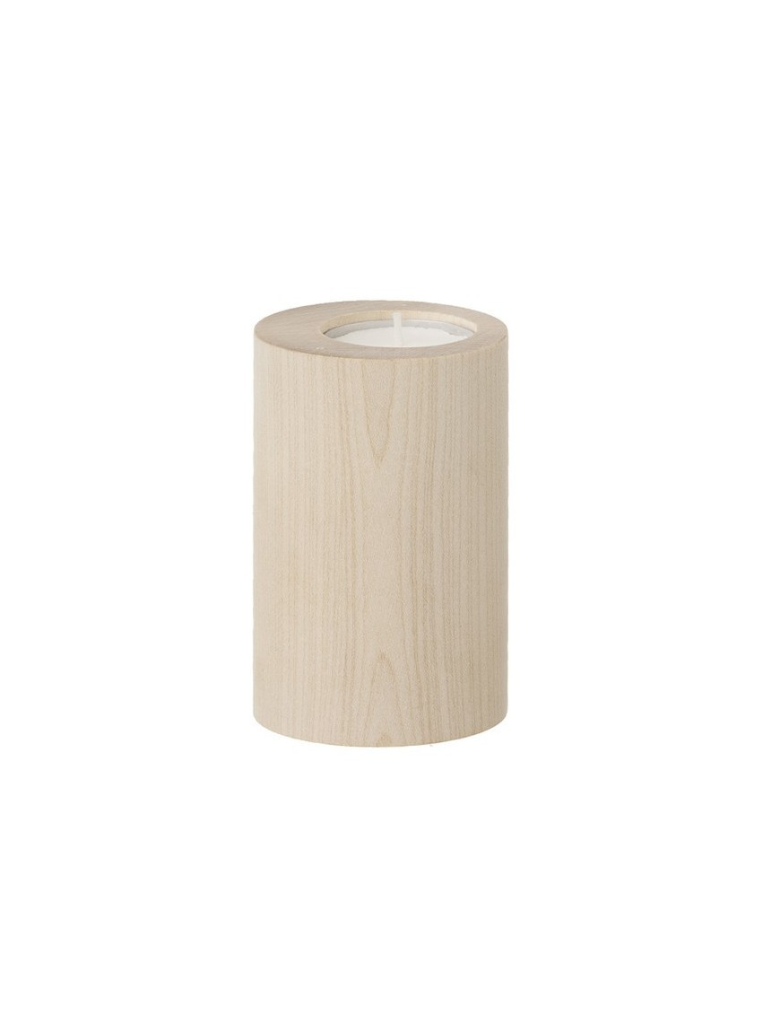 ferm living candleholder cylinder - maple