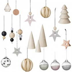Bloomingville - Marble Star Ornament - Ø7 cm