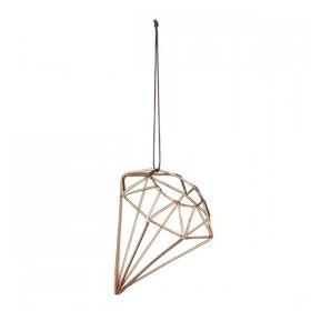 Bloomingville Suspension Diamant Cuivre - Ø6,5xH9 cm