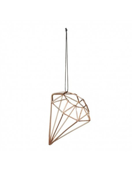 Bloomingville Suspension Diamant Cuivre - Ø6,5xH9 cm