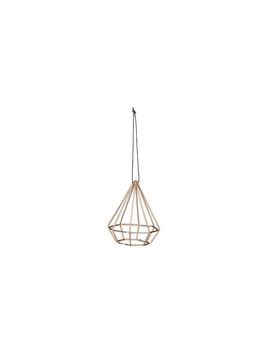 Bloomingville Suspension Diamant Cuivre - Ø5,5xH7,5 cm