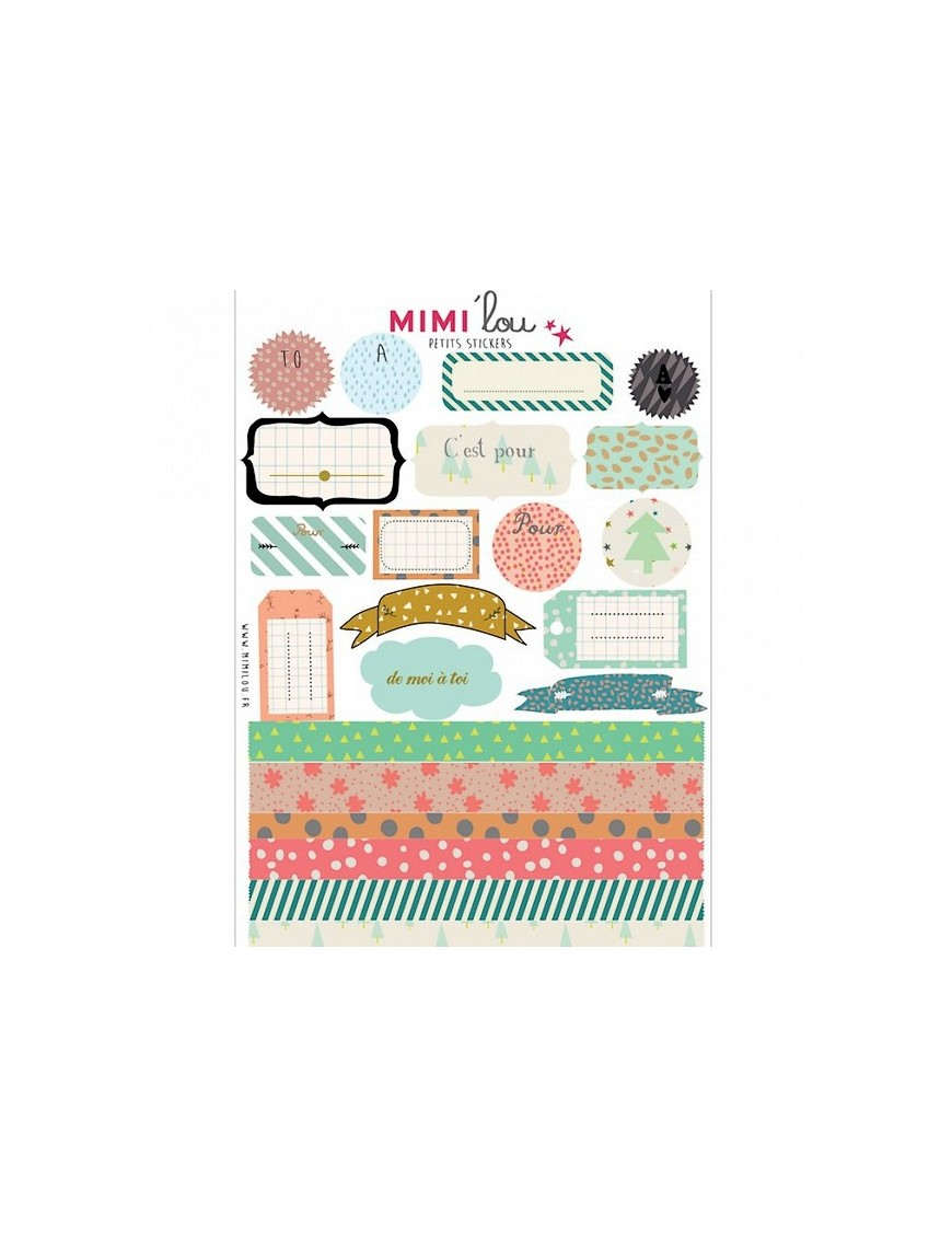 """Mimi'Lou - Sticker kit """"FROM ME TO YOU"""""""