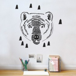 Mimilou Bear's Head Wall decals
