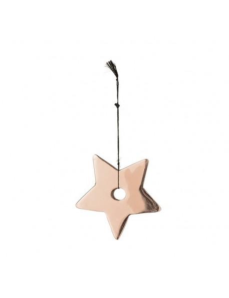 bloomingville étoile en cuivre à suspendre - Ø7 cm