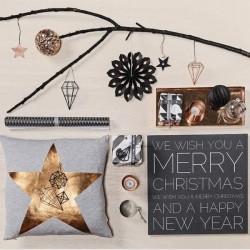 Bloomingville - Copper Star Ornament - Ø7 cm