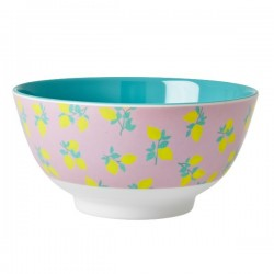 RICE - Bowl Two Tone With Pink Flower Print