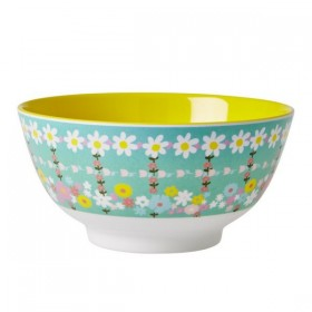 RICE - Bowl Two Tone With retro flowers Print