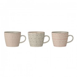 BLOOMINGVILLE - Set de 3 Mugs Collection Cécile Ø9,5xH8 cm