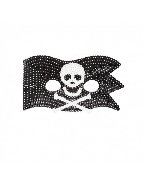 Kids Cool Pirate Sequin Mask by Rice