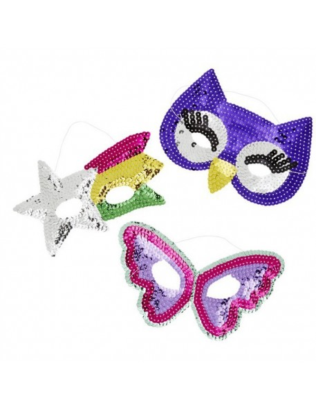 masque enfant en sequins rice