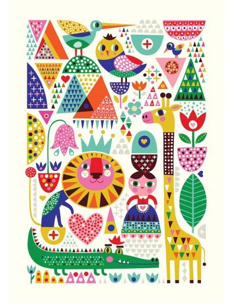 Helen Dardik Poster Scandinavian Zoo - 50 x 70 cm