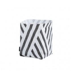 OYOY panier polyester rayé noir & blanc