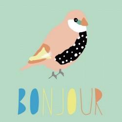 Mimi'Lou Affiche Bonjour 60x40 cm