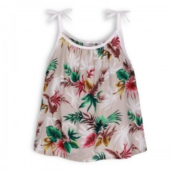 palm leaf print top by Troizenfants