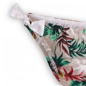 girl swimwear with misty palm leaf print by troizenfants
