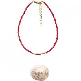 Burgundy Pearl Golden Teal Bracelet by Tassia Canellis