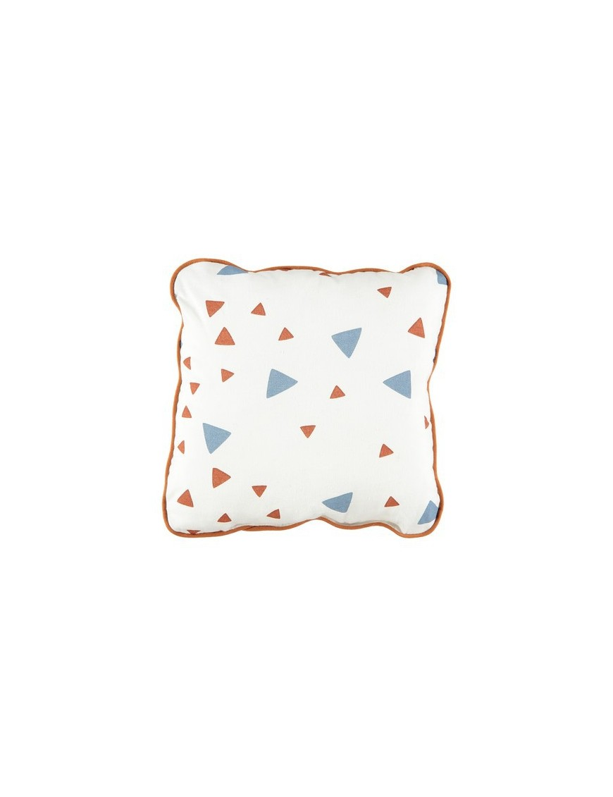 Joe Mini Cushion with Pink & Honey Sparks Print by NOBODINOZ
