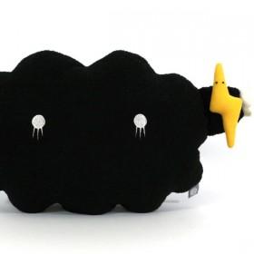 noodoll medium cushion black cloud