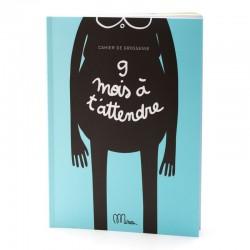 """cahier de grossesse """"9 mois à t'attendre"""" minus éditions"""
