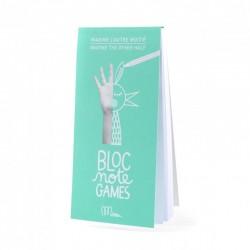 """Bloc Note Games Cahier d'activités """"Imagine l'autre moitié"""""""
