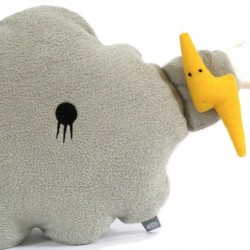 Noodoll Grand Coussin Nuage Gris Ricestorm