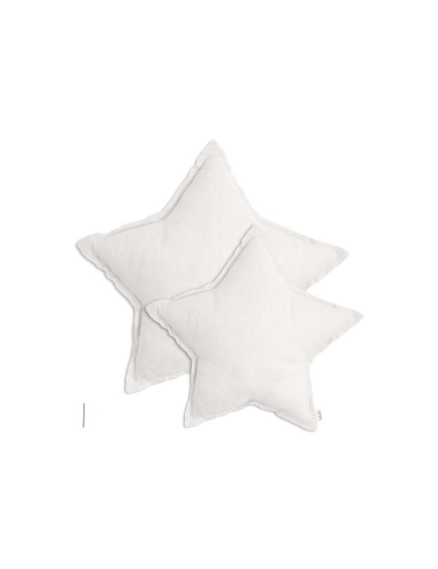 Numero 74 coussin étoile blanc