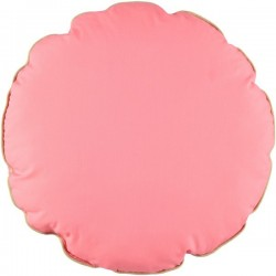 Nobodinoz - Coussin Rond Macaron Rose Indien