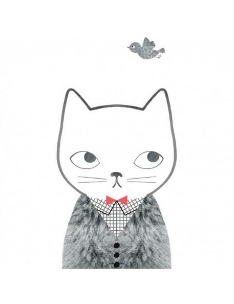 Audrey Jeanne Grid & Fur Print