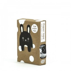 Masking Tape + Marque Page Noir et Blanc Noodoll