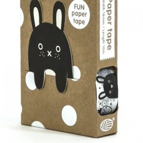 Masking Tape + Marque Page Noir et Blanc Noodoll