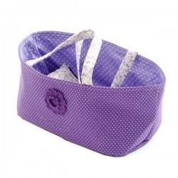 Couffin pour Poupée avec Parure de lit - liberty violet