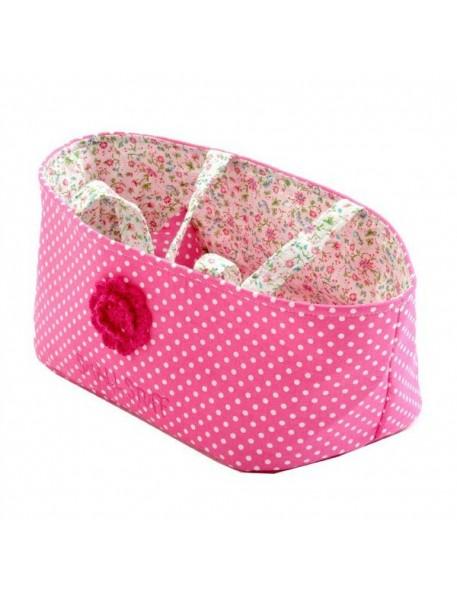 Couffin pour Poupée avec Parure de lit - liberty rose