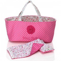 Doll Basket With Pillow&Cover - pink