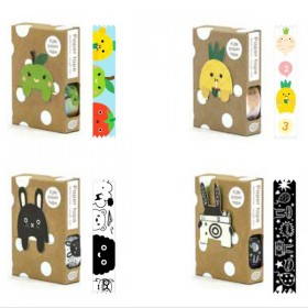 Masking Tape Fruits + Marque Page Pomme Noodoll
