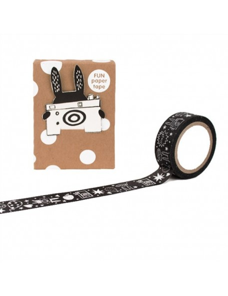 Noodoll White Rabbit masking paper tape