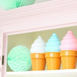 nightlight ice cream lamp blue