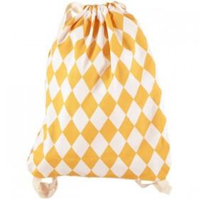 Nobodinoz - sac à dos Florencia losanges miel